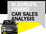 Hybrid car sales analysis W Europe 2017 H1