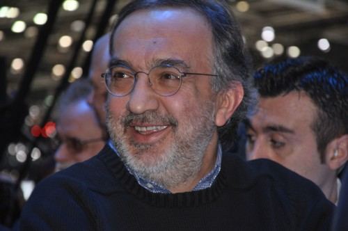 Laughing Sergio Marchionne Fiat/Chrysler CEO