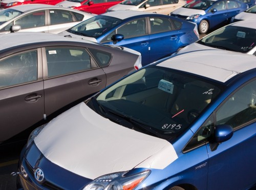 Toyota Prius ready for export