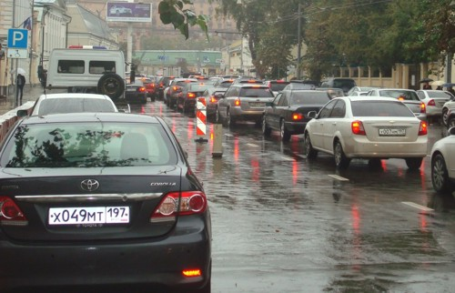 Moscow traffic Dasha
