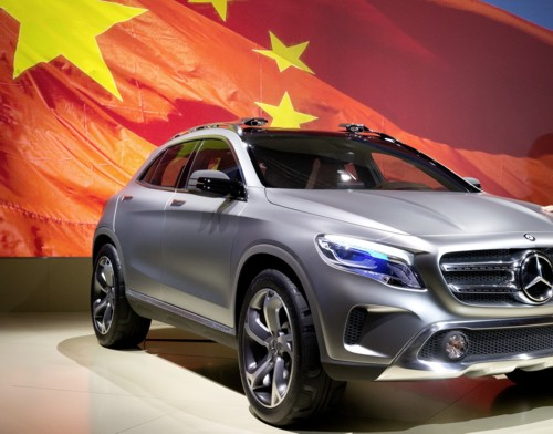 Mercedes GLA concept crossover China 2013