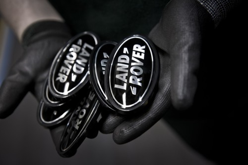 Land Rover badges hand gloves