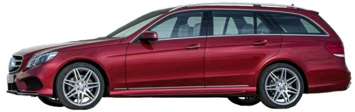 Mercedes E-Class T-Model 2013MY red side cut-out