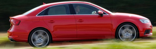 Audi A3 Saloon red side