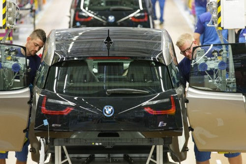 BMW i3 production line Leipzig 2013