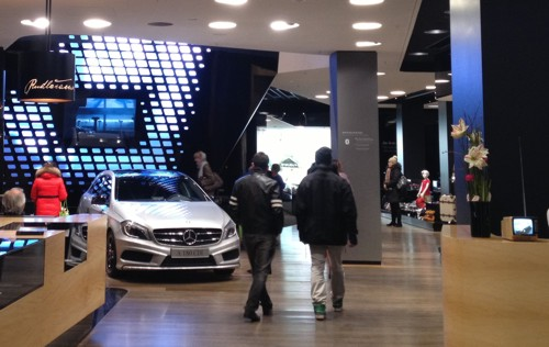 Mercedes dealership Berlin A-Class 2013