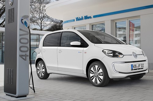 VW e-Up charging station white 2014