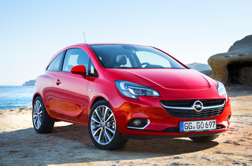 Opel Corsa 2015MY red front 3-qtr