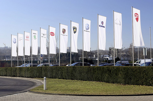 VW Group flags by brand 2014