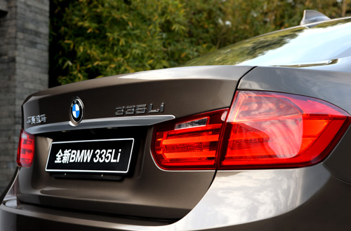 BMW 3-Series L China rear detial 2014