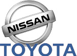 Toyota Nissan logos togehter
