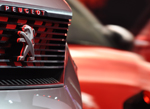 Peugeot badge close-up 2015 Paris Motor Show