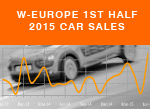 West European 1st half passenger car sales 2015