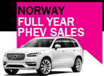 Norway PHEV car sales full year 2016